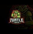 turtle mascot sport logo design vector image vector image
