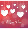 white paper hearts valentines day card on creative vector image