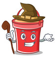 witch bucket character cartoon style vector image vector image
