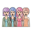 women in half body with casual clothes and long vector image vector image