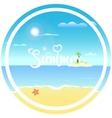 tropical beach sun vector image