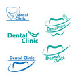 dental logo designcreative dentist logo dental vector image