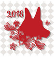 dog new year oriental festival vector image