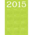 2015 calendar ecology concept vector image vector image
