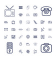 37 electronics icons vector image vector image
