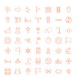49 direction icons vector image vector image