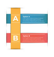 abstract paper infographic template business vector image vector image