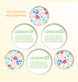 abstract school infographics vector image vector image