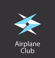 airplane club logo emblem airlift company vector image vector image