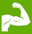 biceps icon green vector image vector image