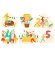 birthday celebration anniversary numbers with cute vector image
