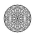 black mandala beautiful design element vector image vector image