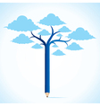 blue cloud tree stock vector image vector image