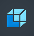box construction cube business logo vector image