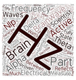 Brainwaves Part 1 Frequencies text background vector image vector image