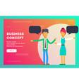 business concept teamwork metaphor vector image