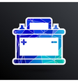 car battery icon electric power sign vector image vector image