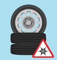 Car wheel vector image vector image