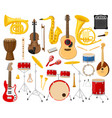 cartoon musical instruments acoustic and electric vector image