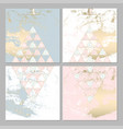 chic geometric card set vector image vector image