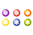 Christmas toy balls with snowflakes vector image