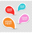 Colorful Stickers Set on Transparent Background vector image vector image
