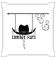 cowboy hats single signboard vector image vector image