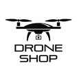drone online shop logo simple style vector image