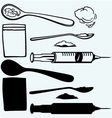 Drug syringe vector image