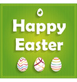Easter background design vector image