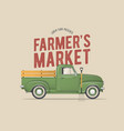 farmers market themed vector image