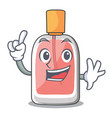 finger perfume bottle isolated in the mascot vector image vector image