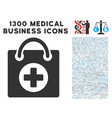 first aid icon with 1300 medical business icons vector image vector image