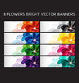 Floral banners set vector image