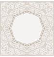 Floral frame background in arabic motif vector image