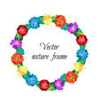 Floral wreath from beautiful colorful flowers vector image vector image