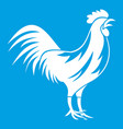 gallic rooster icon white vector image