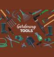garden spade fork trowel rake gardening tools vector image vector image