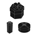 gift and packing black icons in set collection for vector image