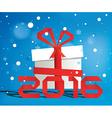 Gift Box 2016 vector image vector image