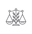 growing law line icon concept growing law vector image vector image