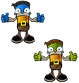 Halloween Monster Two Thumbs Up vector image