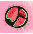 Hand drawn Watermelon 03 A vector image vector image