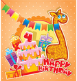 happy birthday 4year 380 vector image vector image