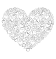 heart on white background vector image vector image