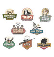 hunt club open season wild animals and ammo icons vector image vector image