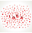 Idea word with in alphabets vector image vector image