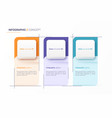 infographic design template three options vector image