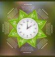 infographics design with green leaves in a circle vector image vector image
