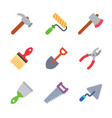 instruments and tools colored trendy icon pack 2 vector image